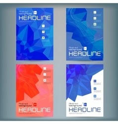 Set of abstract flyer templates with vector