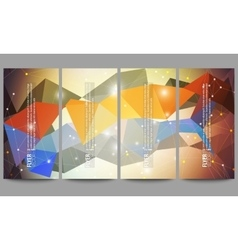 Set of modern flyers Abstract multicolored vector image vector image