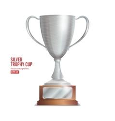 Silver trophy cup winner concept award design vector
