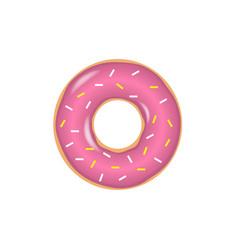 sweet donut set vector image vector image