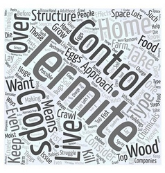 Termite control word cloud concept vector