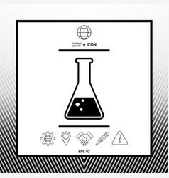 Test-tube symbol bubbles vector