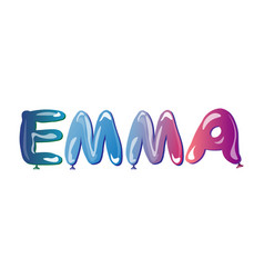 the girls name emma balloons vector image vector image