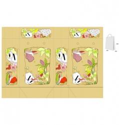 vintage floral bag vector image