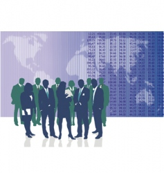 world business people vector image vector image