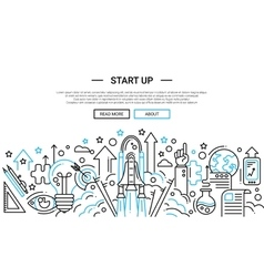 Start up - line design website banner temlate vector