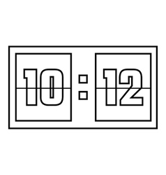 Scoreboard icon outline style vector image