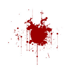 Red ink splatter background isolated on white vector