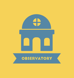 Observatory building vector