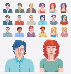 Abstract people icons vector