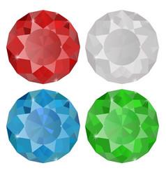diamond sapphire ruby emera vector image