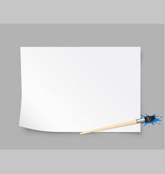 Paper template brush gray background vector