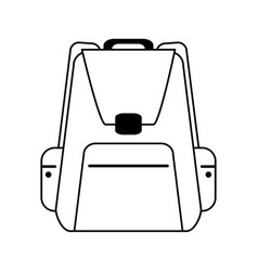 Backpack with outside pockets icon image vector
