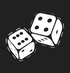 casino game dice vector image