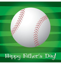 Bright baseball happy fathers day card in format vector