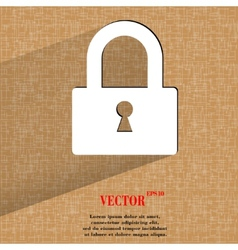 Padlock flat modern web design on a flat geometric vector