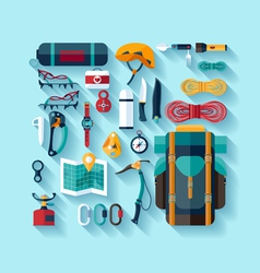 Climbing equipment vector