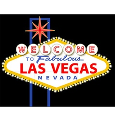 Welcome to fabulous las vegas nevada sign vector