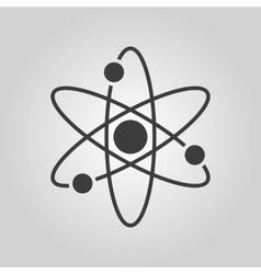 The atom icon atom symbol flat vector