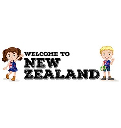 Welcome to new zealand poster vector