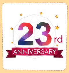 Colorful polygonal anniversary logo vector