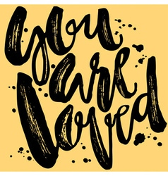 You are loved-romantic love confession hand vector