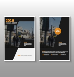 Black orange annual report leaflet brochure vector