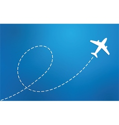 airplane on blue background vector image vector image