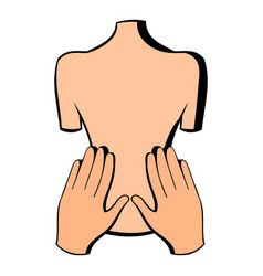 Back massage icon icon cartoon vector