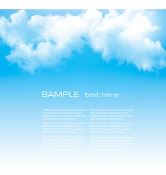 Background with a cloudy blue sky vector