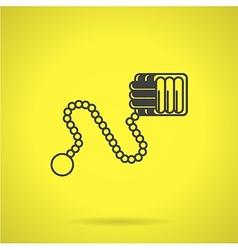 Black Monkeys fist flat icon vector image