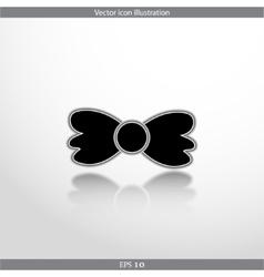 bow tie web flat icon vector image vector image