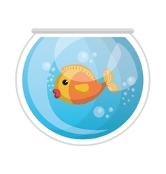 Cute colors fish pet vector