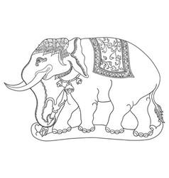 gajah sena vector image vector image