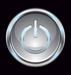glass chrome power switch button vector image vector image