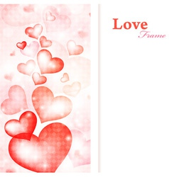 heart frame vector image vector image