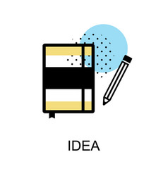 idea book graphic icon vector image vector image