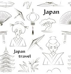 Japan travel pattern vector