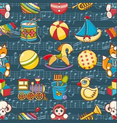 Kid toy seamless pattern design elemen vector