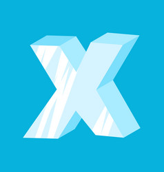 letter x ice font icicles alphabet freeze vector image