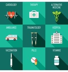 Medicine icons set vector