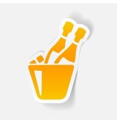 realistic design element champagne vector image