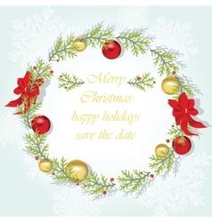 Round christmas wreath vector