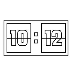 Scoreboard icon outline style vector