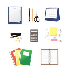 Stationery isolated on white vector image vector image