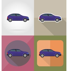 Transport flat icons 01 vector