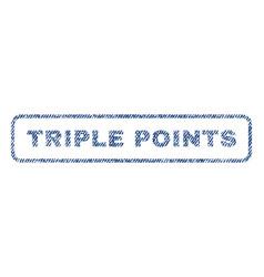 Triple points textile stamp vector