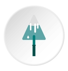 Trowel icon flat style vector image