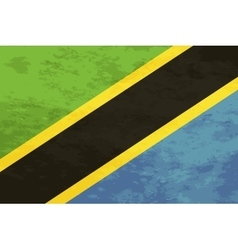 True proportions Tanzania flag with texture vector image vector image