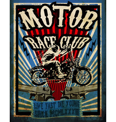 Vintage motorcycle set tee graphic design vector